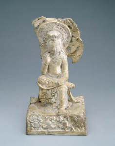 Bodhisattva Northern Qi dynasty, ca. 575 Marble, traces of color Freer Gallery of Art, Smithsonian Institution, Washington, DC: Gift of Charles Lang Freer, F1911.411.